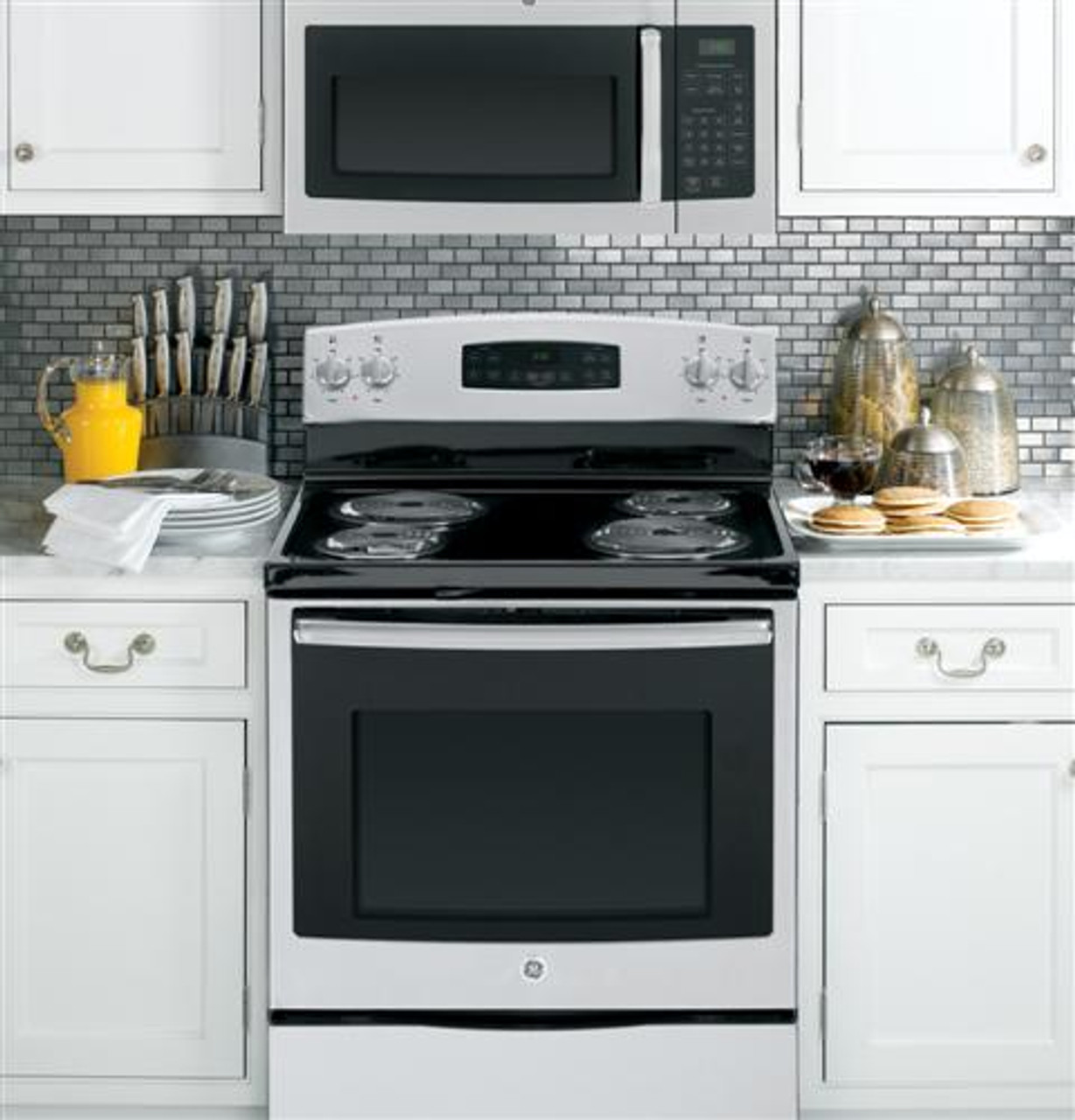ge 1 6 cu ft stainless steel over