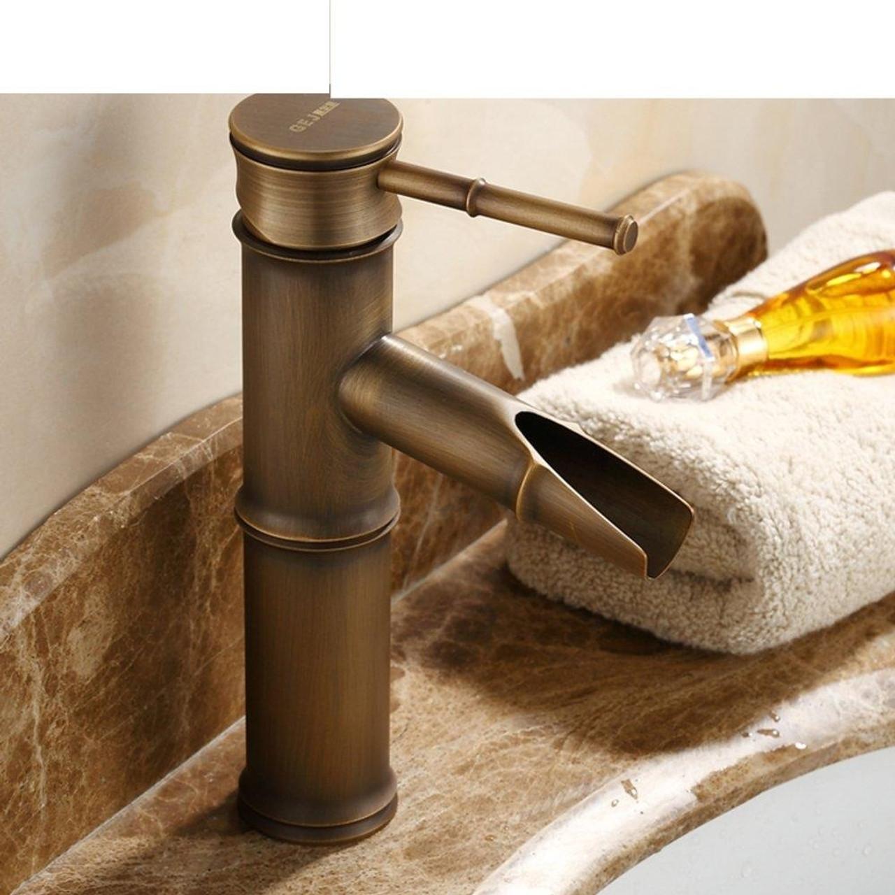 bamboo design oil rubbed bronze faucet