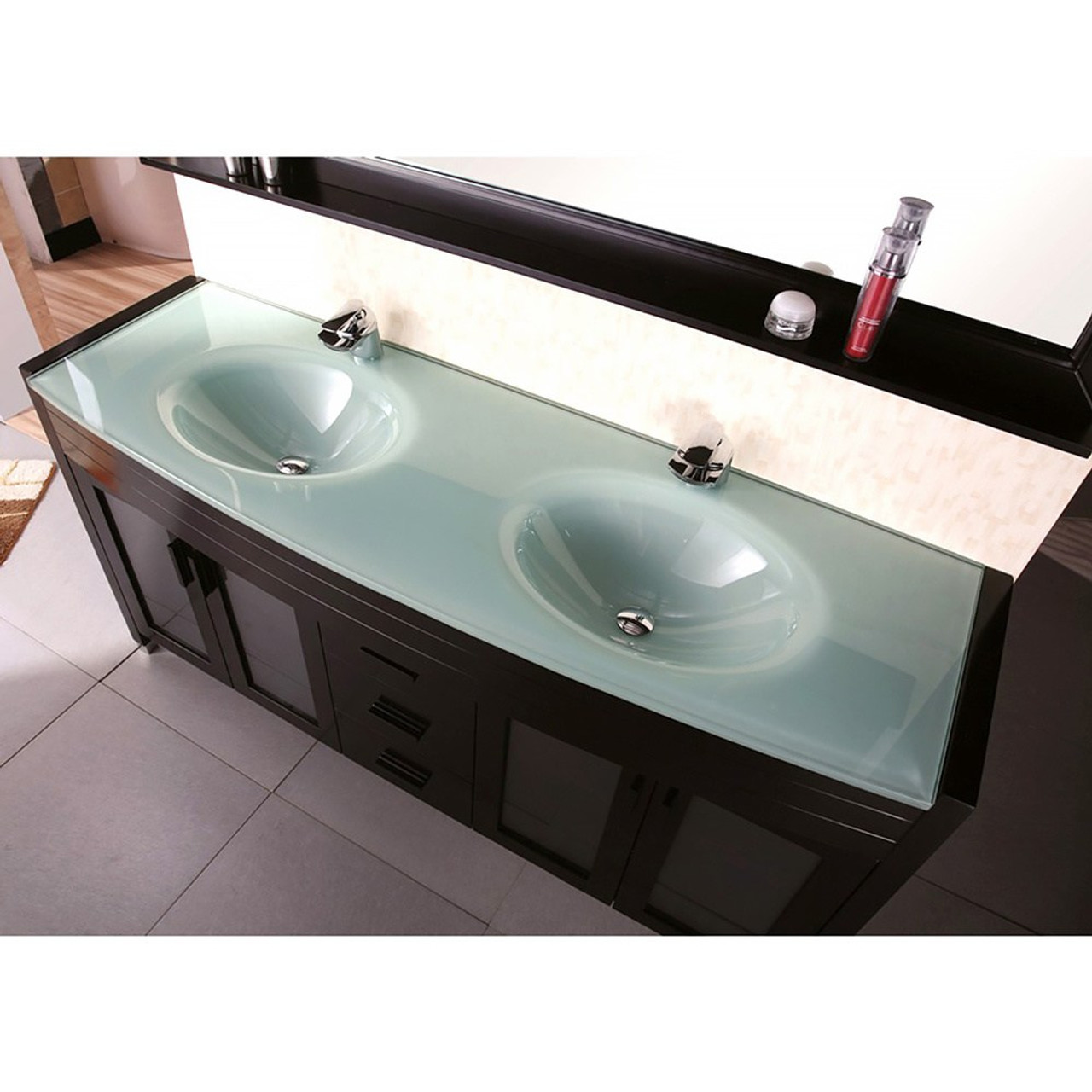 juno 60 espresso double sink bathroom vanity
