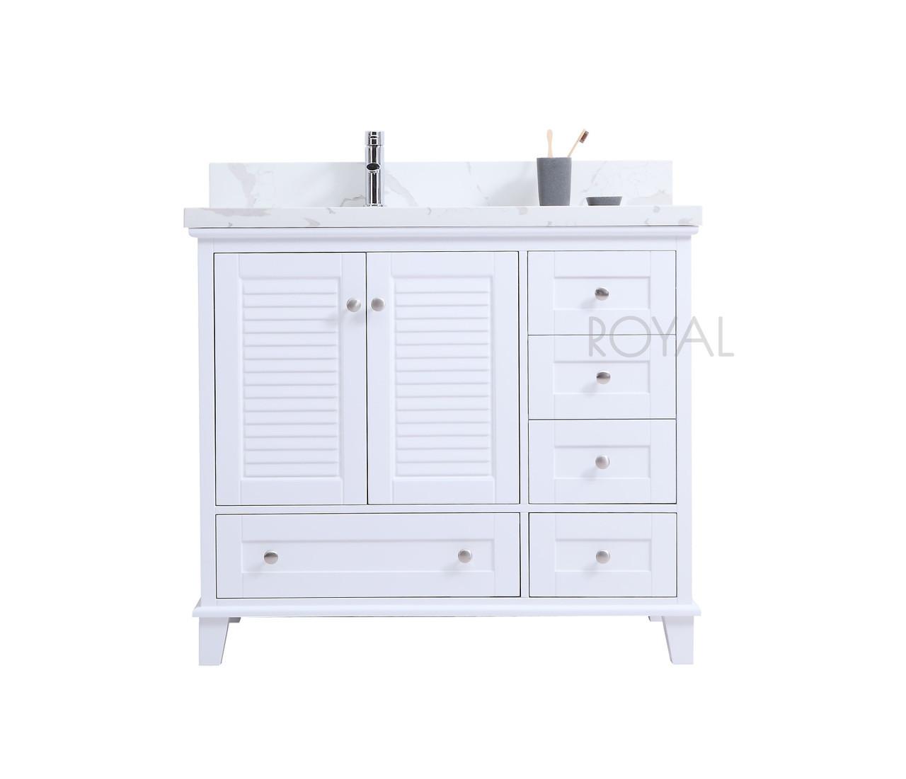 keyes 36 white offset left sink bathroom vanity