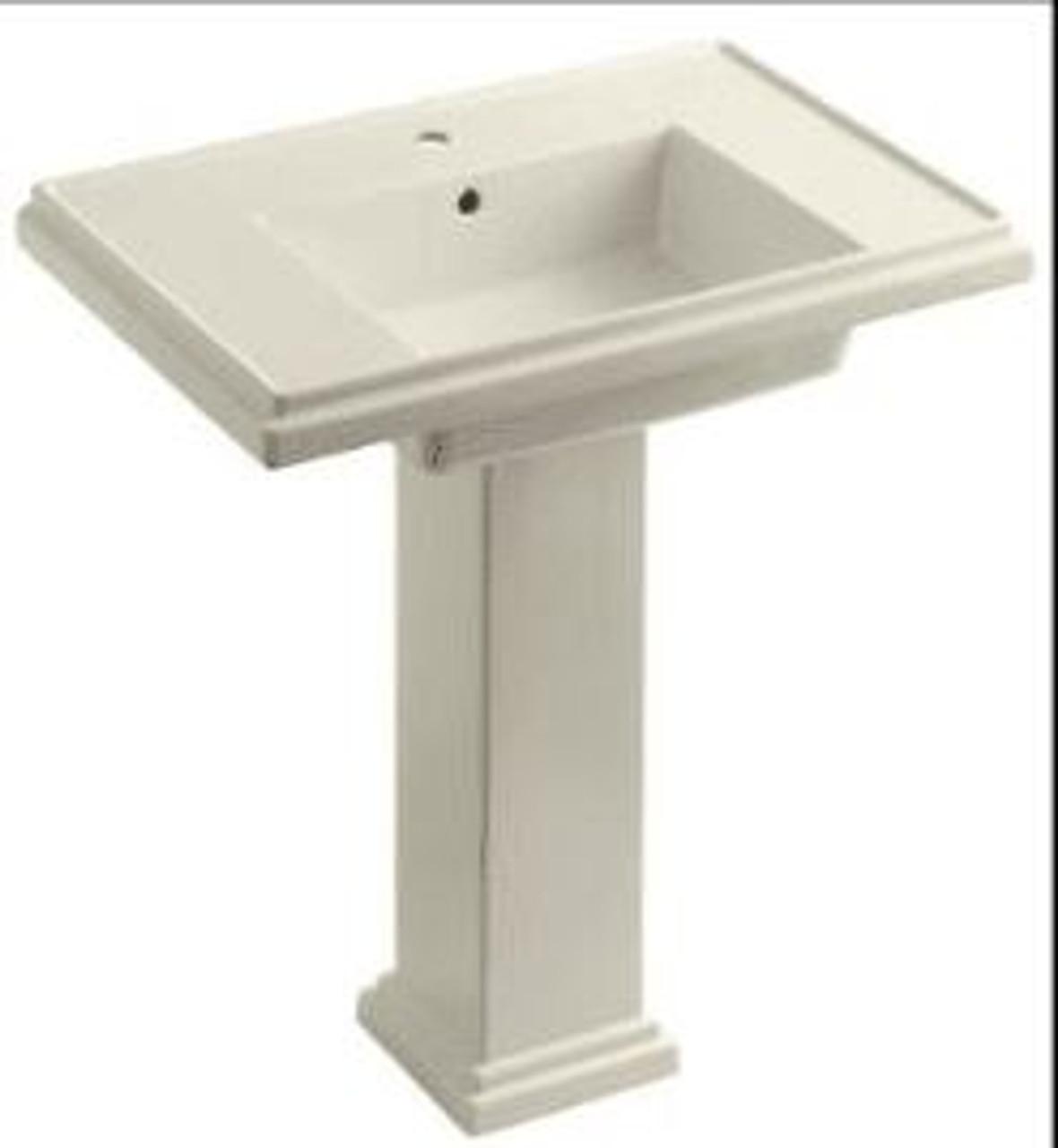 kohler tresham 30 pedestal bathroom sink with single faucet hole and pedestal base