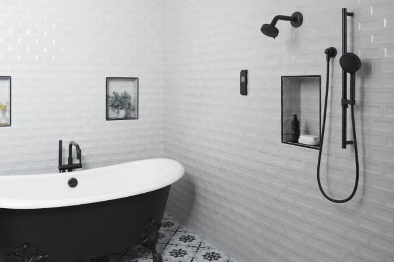 kohler purist floor mounted tub filler with built in diverter includes hand shower