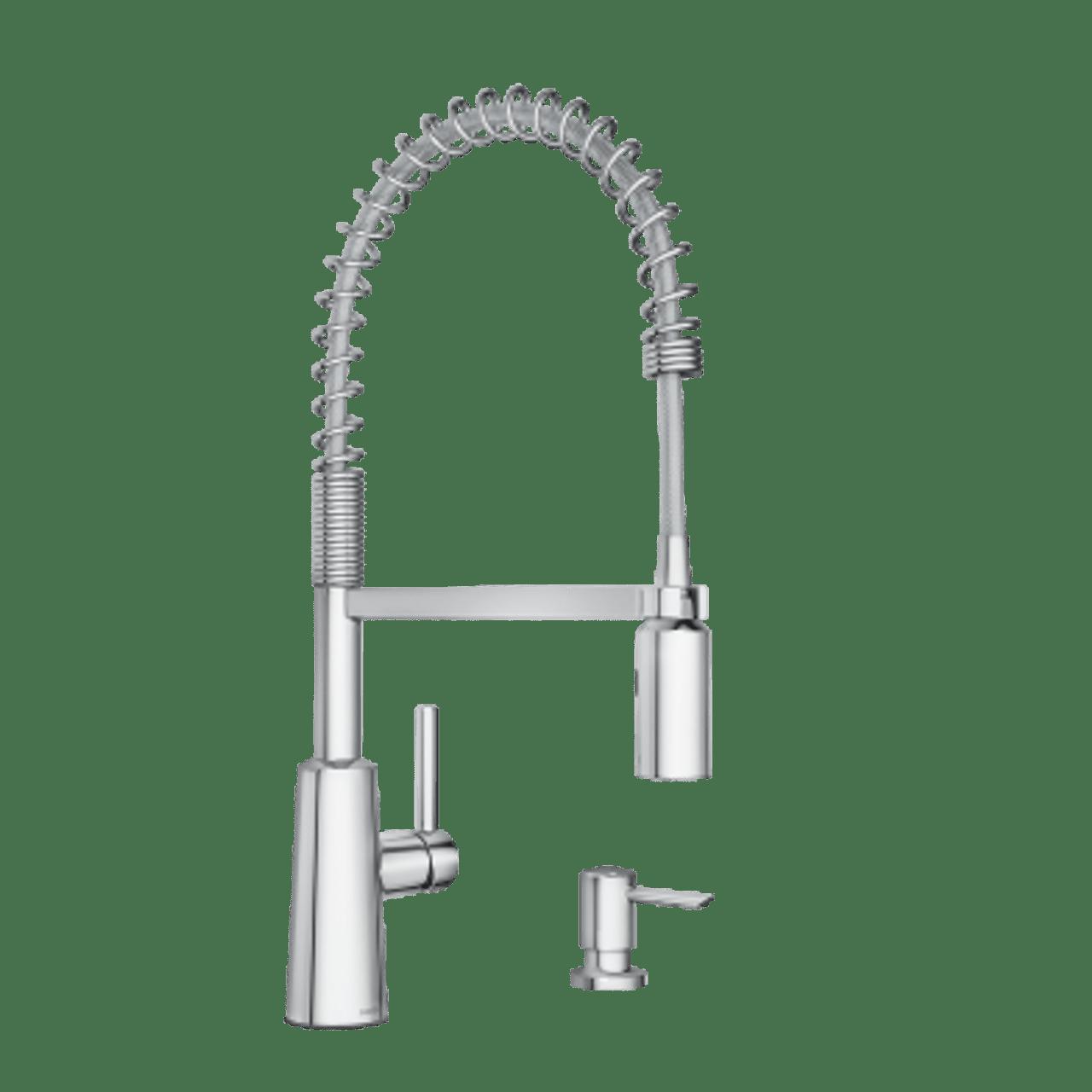 moen nori chrome one handle high arc pulldown kitchen faucet