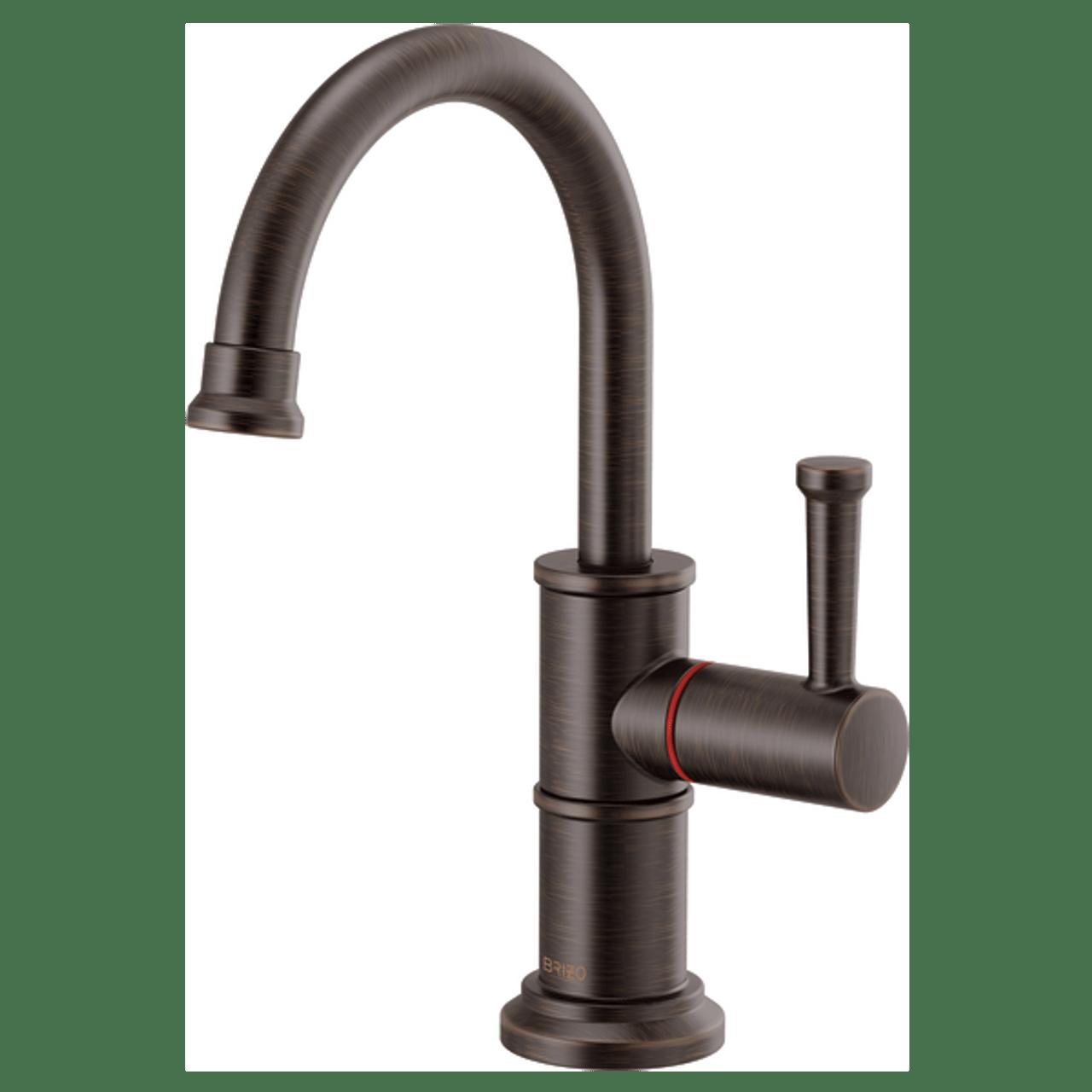 brizo artesso instant hot faucet with arc spout in venetian bronze