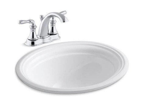 kohler devonshire 16 7 8 undermount bathroom sink with overflow and devonshire centerset bathroom faucet with pop up drain assembly