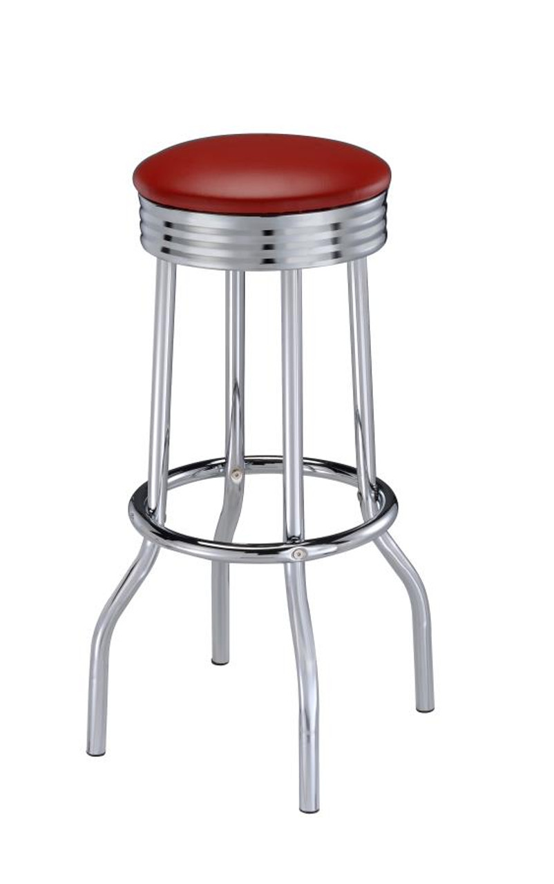 The Cleveland Contemporary Red Bar Height Stools Set Of Two Sold At Discount Home Furniture Serving Burnsville Mn