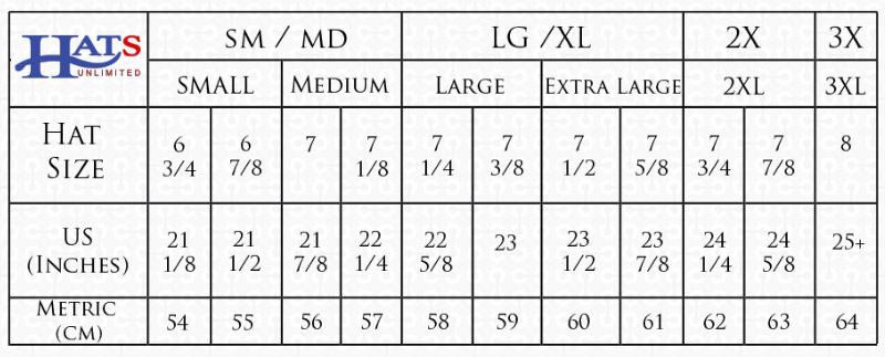 Hat Sizing Chart How To Find Your Hat Size Hats Unlimited