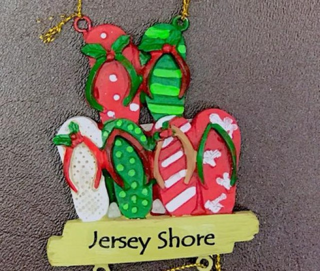 Jersey Shore Flip Flop Ornament