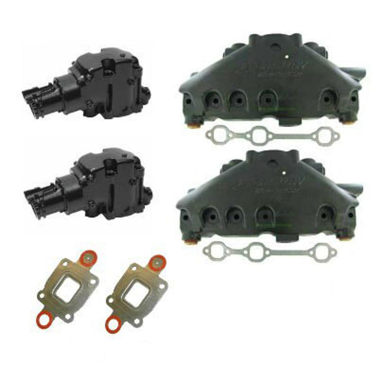14 degree dry joint oem mercruiser 4 3 v6 exhaust manifold and riser kit