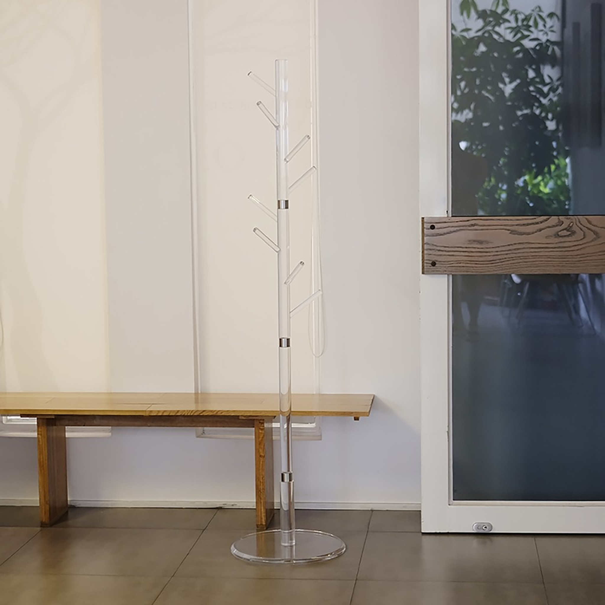 tall clear lucite standing coat rack tree size options