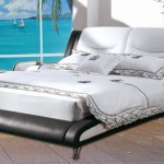 Queen Size Gas Lift Leather Bed