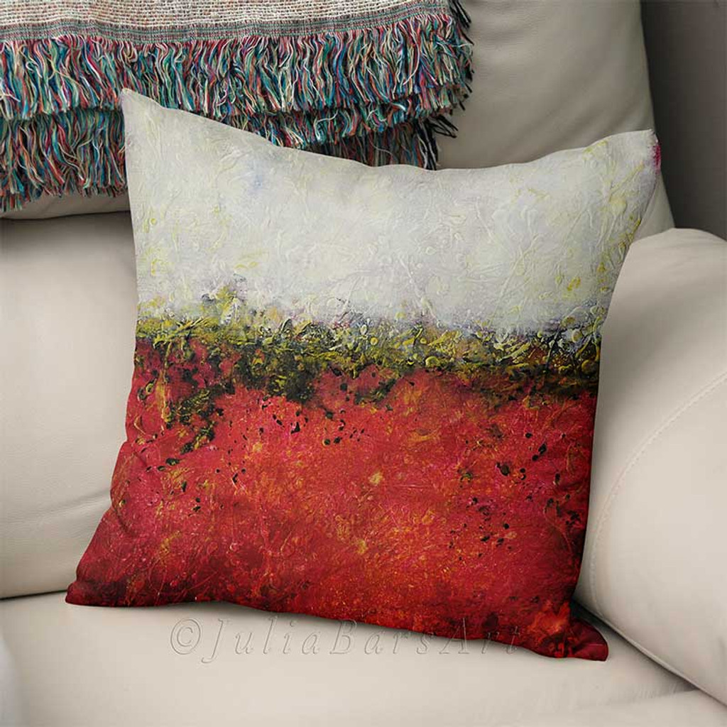 red and white throw pillow cover abstract cushion cover