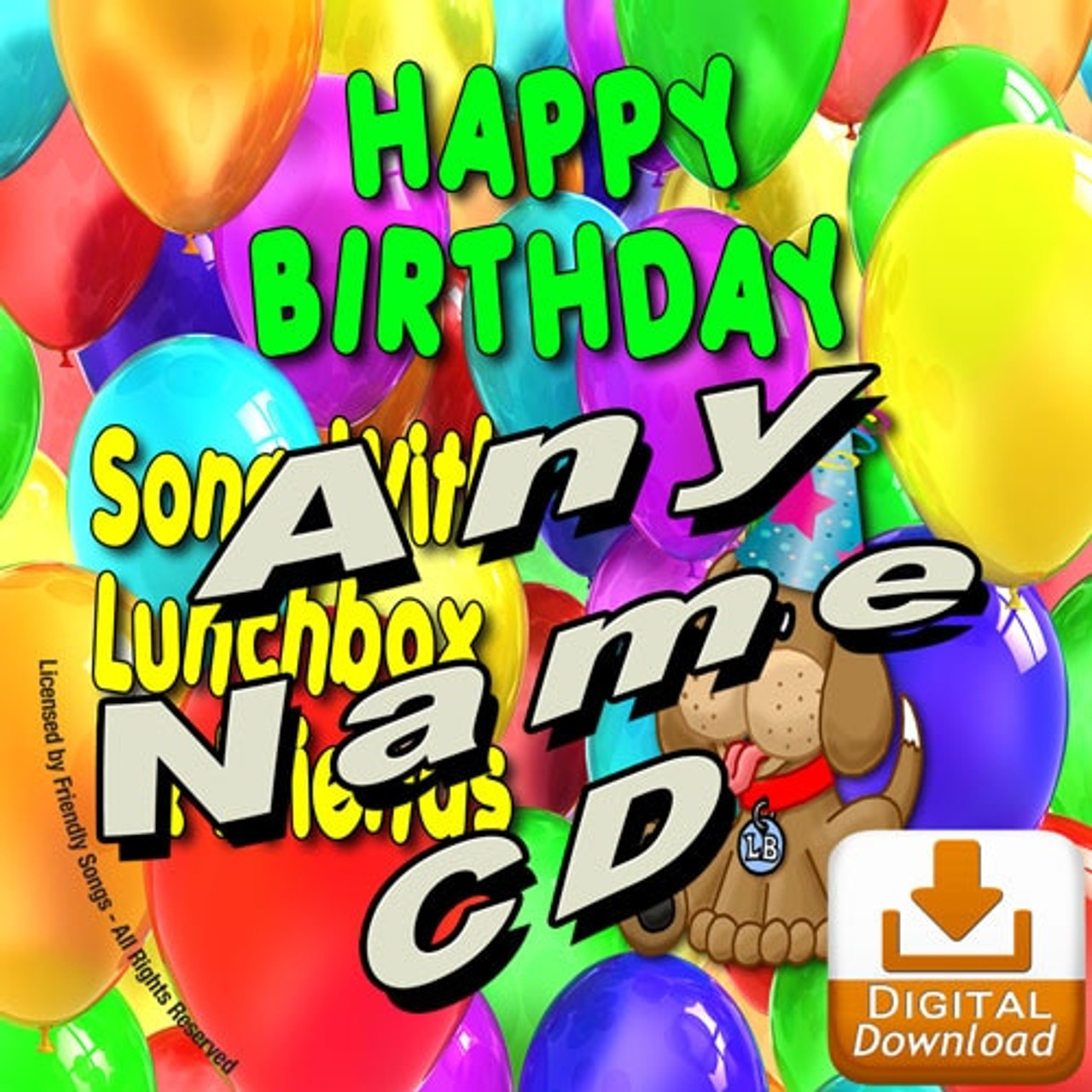 Digital Download Custom Name Personalized Happy Birthday Song Personalized Childrens Music Album Personalized Friendly Songs
