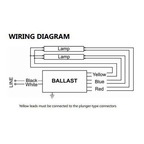 standard 120v t12 rapid start high output electronic ballast 12 tubes