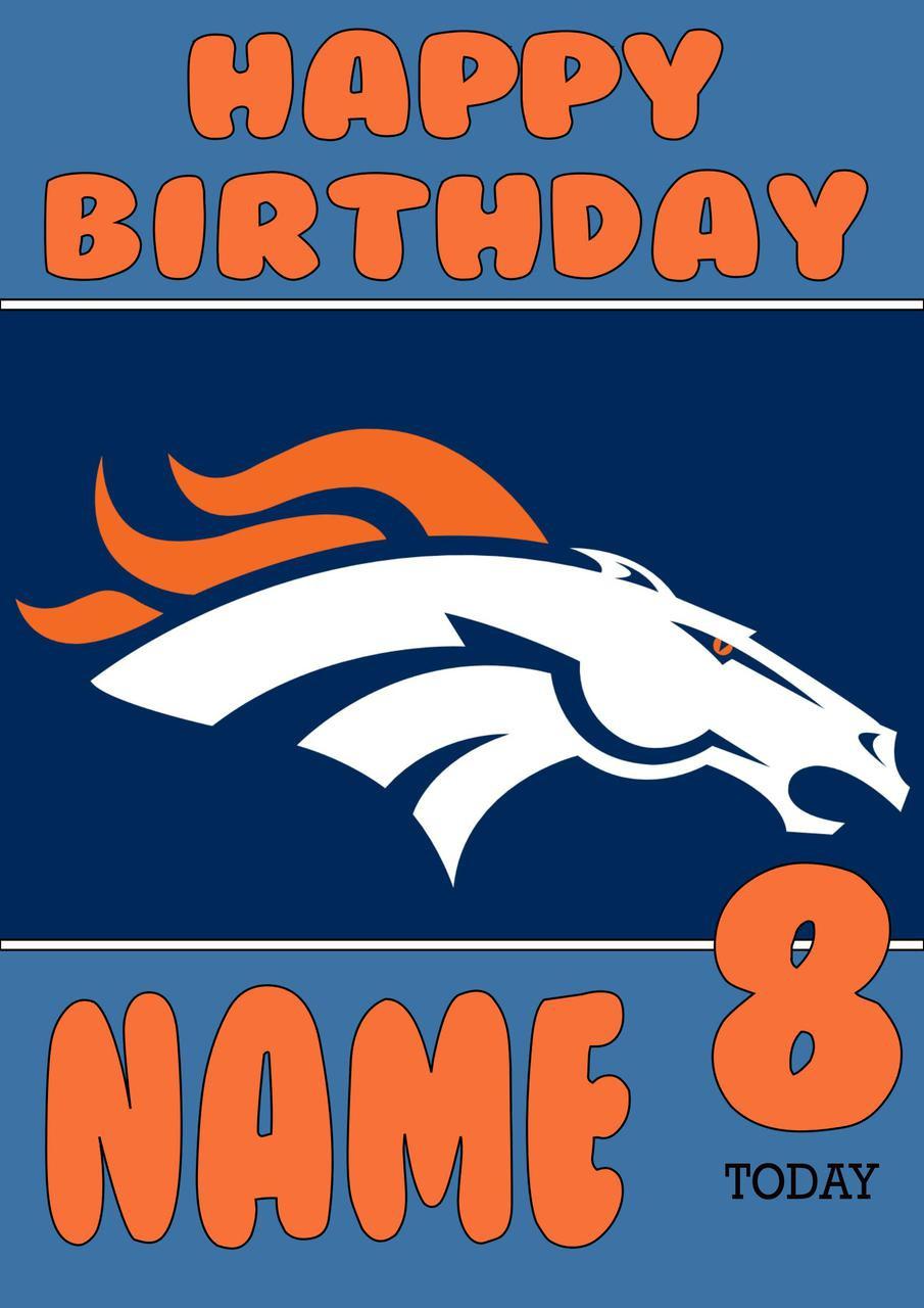 Personalised Denver Broncos Birthday Card 5 Celebrity Facemasks Com