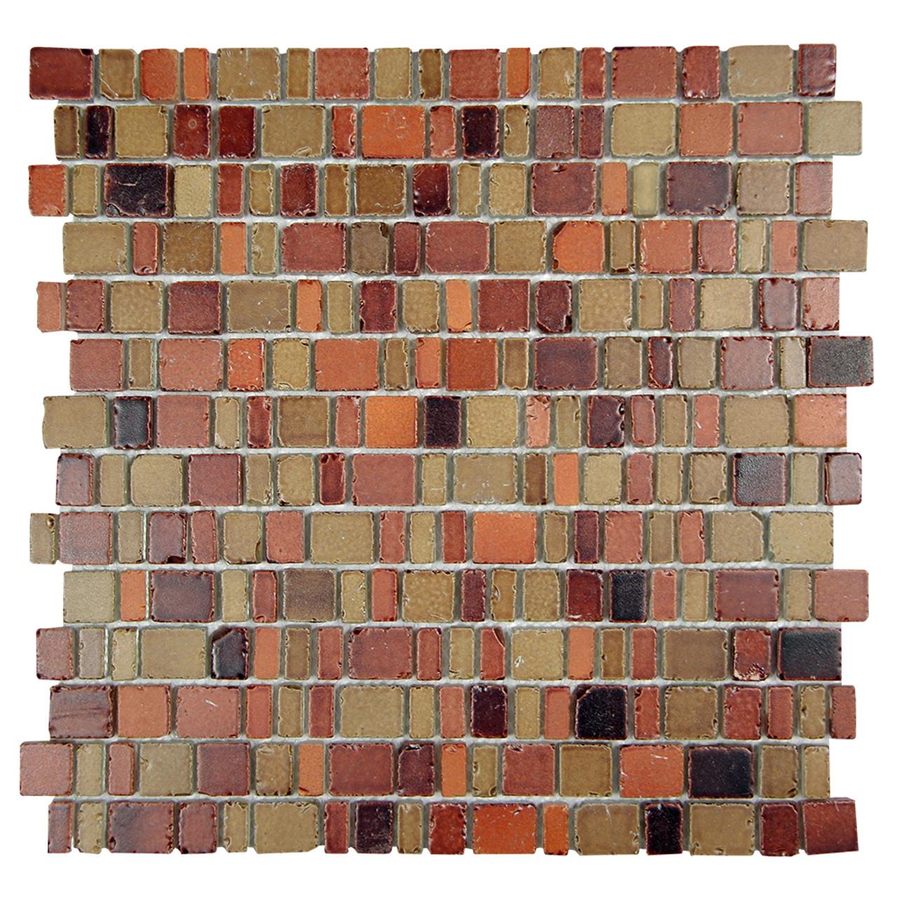 ice age copper rustic glass tile