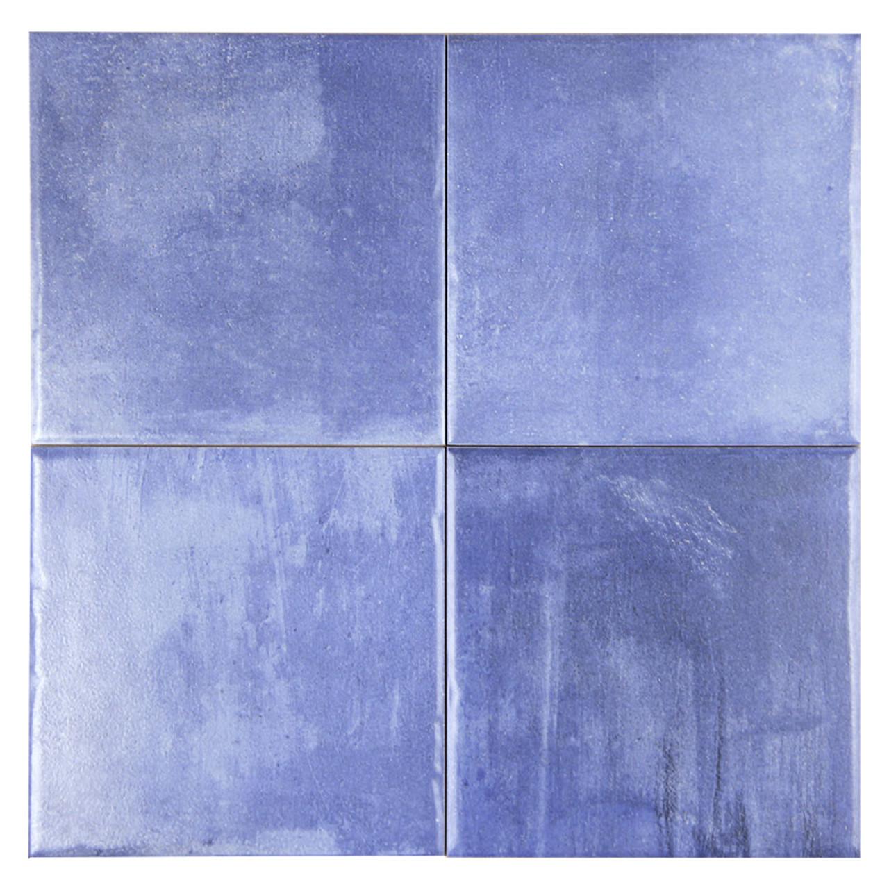 aqua pool azul blue 6x6 porcelain tile box of 10 sq ft