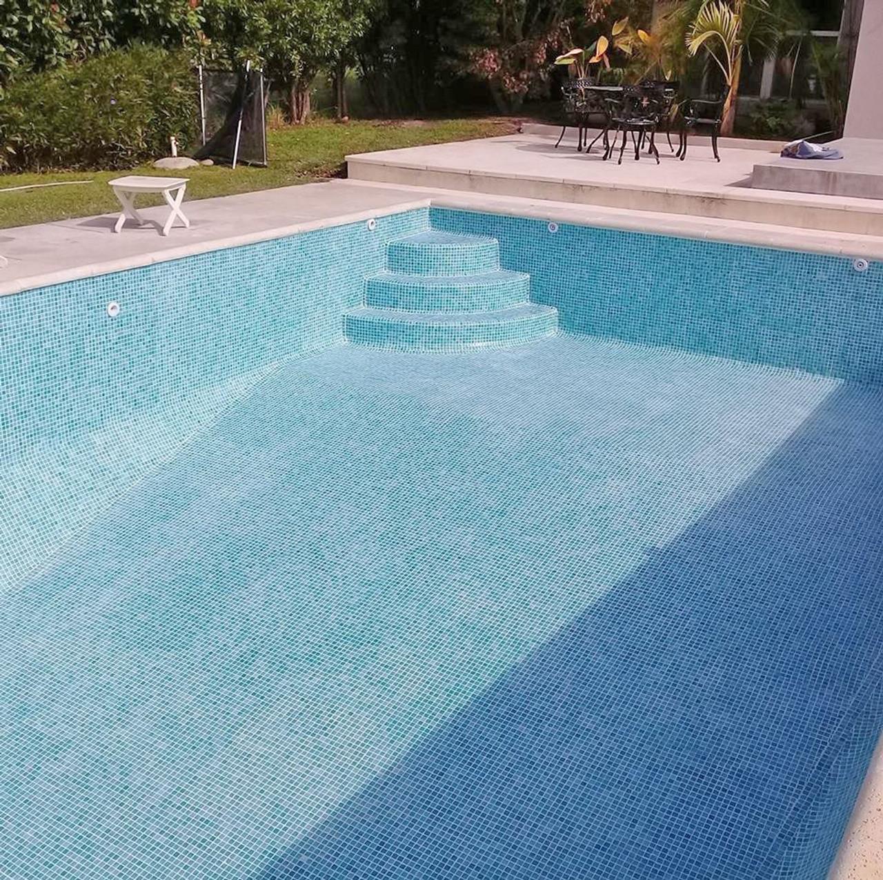 islamorada seafoam green 1x1 pool tile