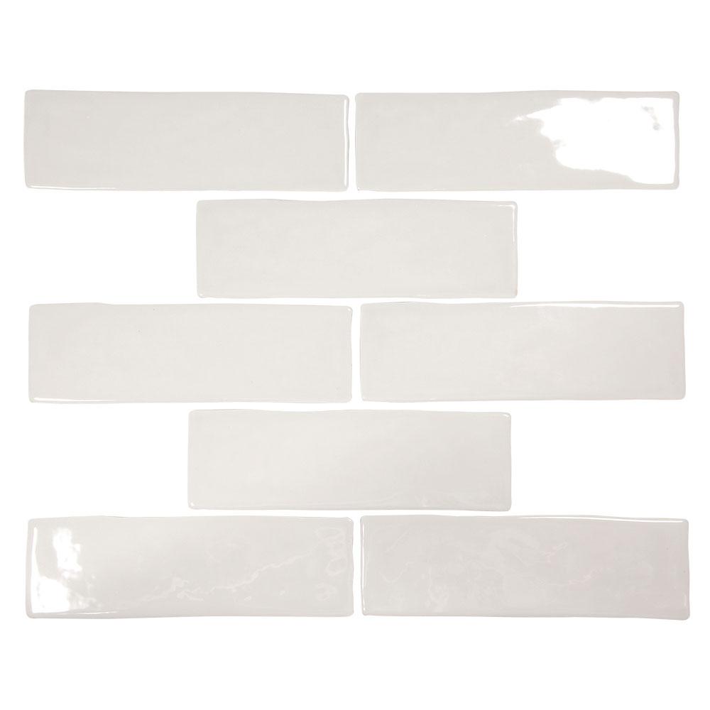 pastel light grey glossy 2x8 porcelain subway tile box of 5 4 sq ft