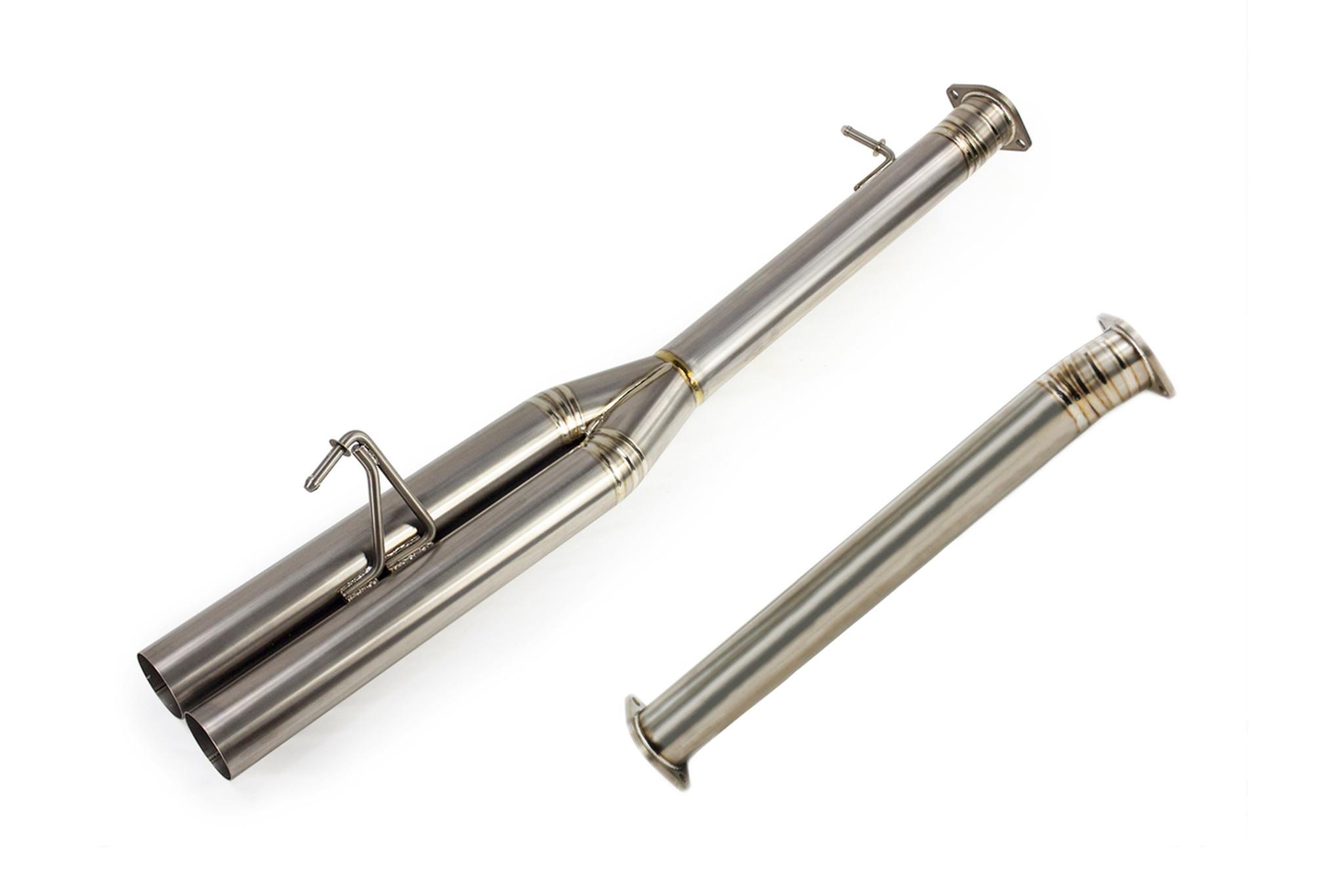 isr performance ep dual 3 titanium blast pipes nissan 350z