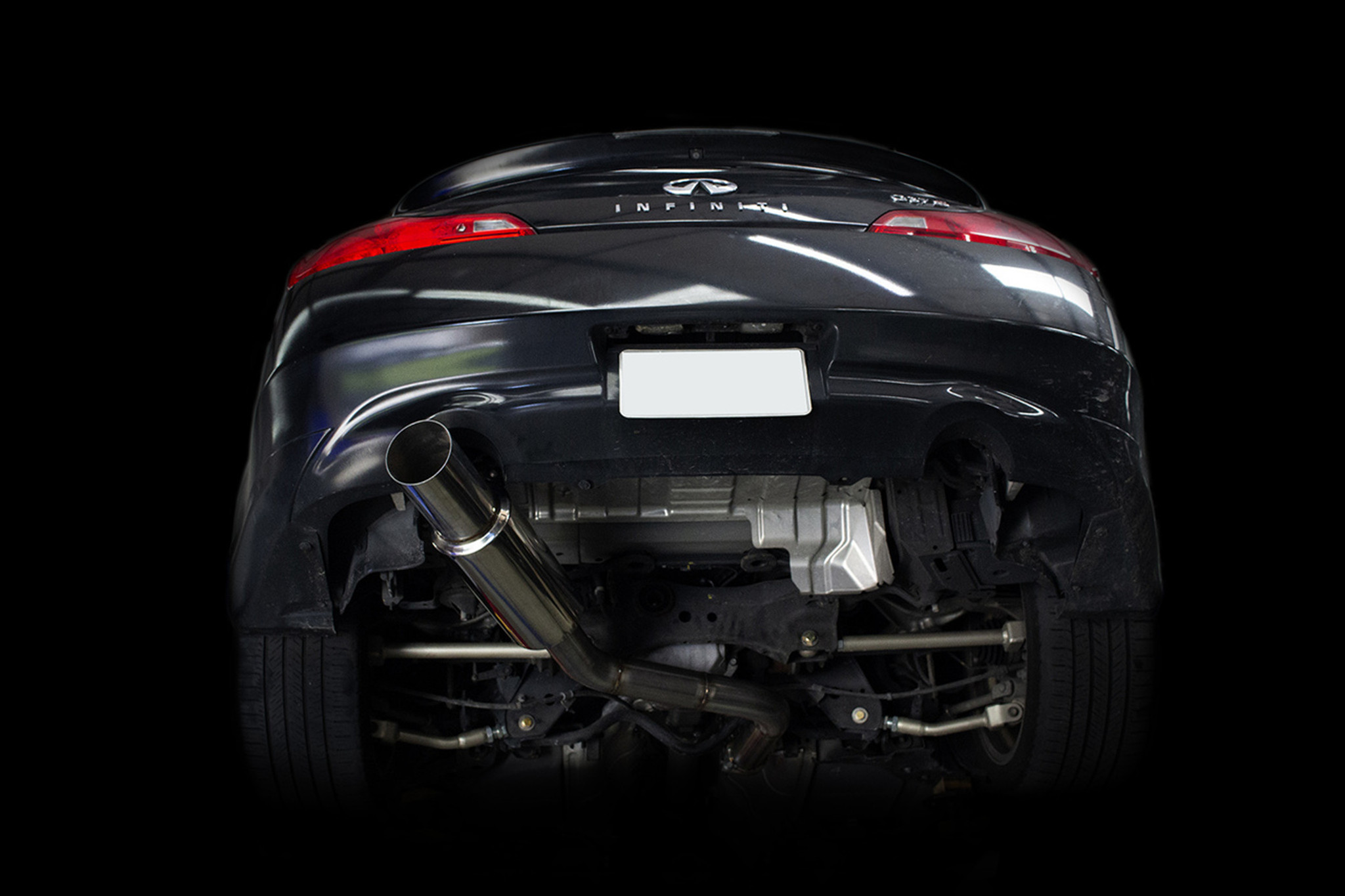 isr performance single exit gt exhaust infiniti g37 coupe rwd