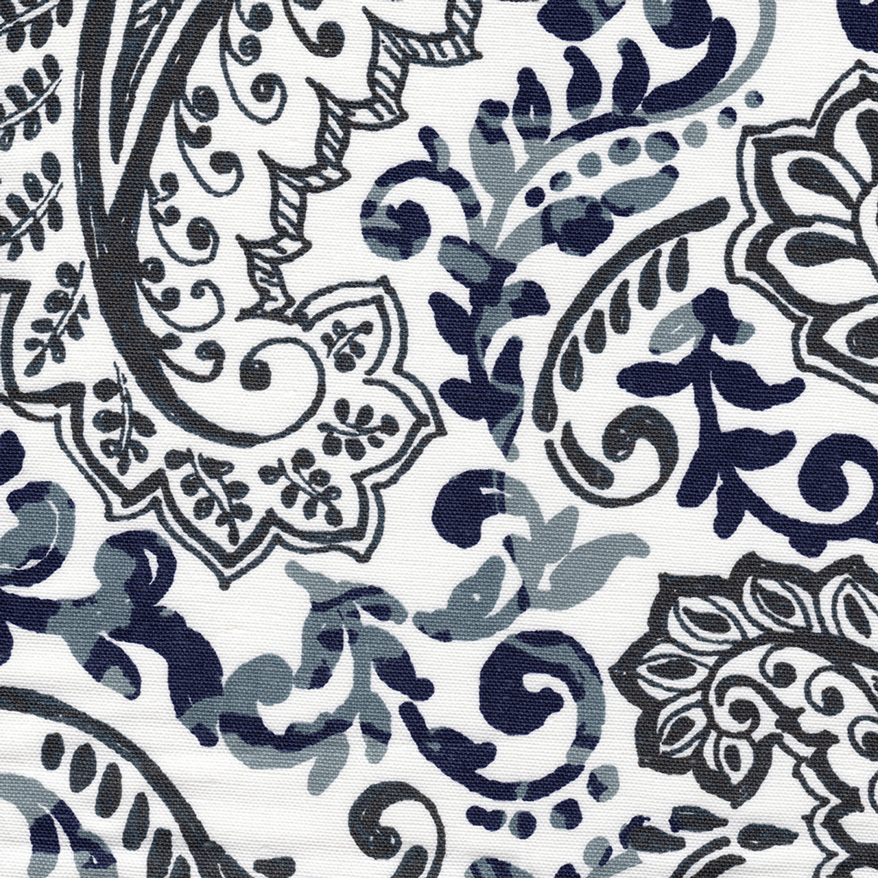 shower curtain in shannon vintage indigo floral paisley