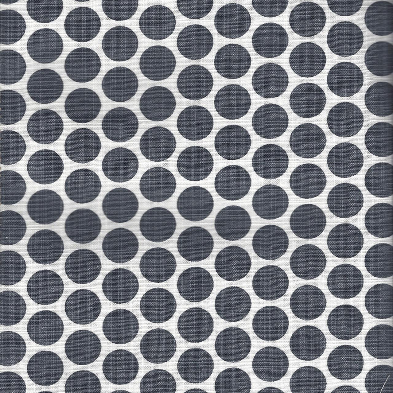 Paco Black Flame Polka Dot Dark Gray Slub Cotton Shower Curtain