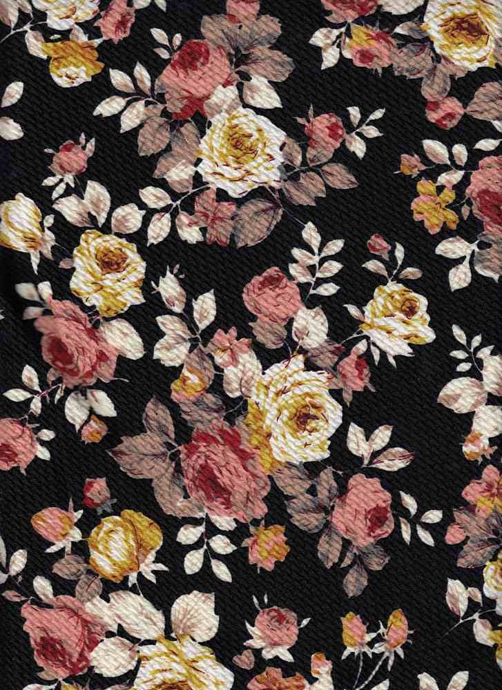 2101f898f0f Floral Knit Bullet Fabric Bullet F032 Black Taupe Fabrics By The