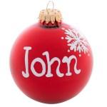 Personalized Christmas Name Balls Ornaments Canada Retrofestive Ca