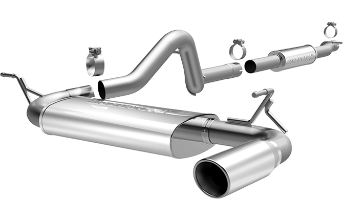 magnaflow 15115 jeep wrangler 3 6l unlimited 4 door stainless cat back performance exhaust system