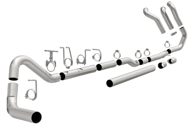 magnaflow 18945 ford f250 f350 7 3 l diesel 4 turbo back aluminized performance exhaust system