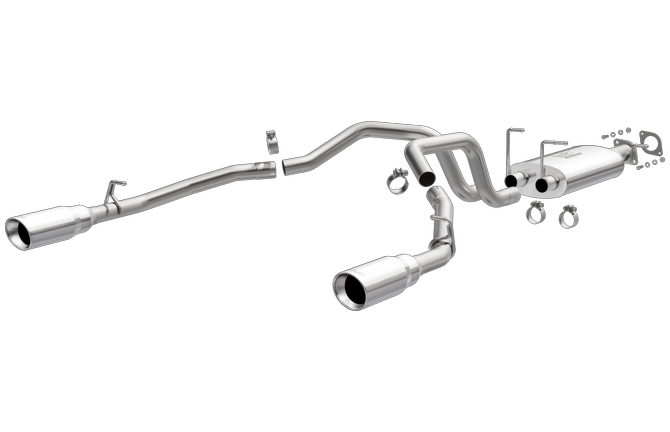 magnaflow 19429 dodge ram 5 7 hemi exc classic models factory dual replacement stainless cat back performance exhaust system