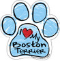 Download I Love My Boston Terrier Blue Scribble Paw Magnet ...