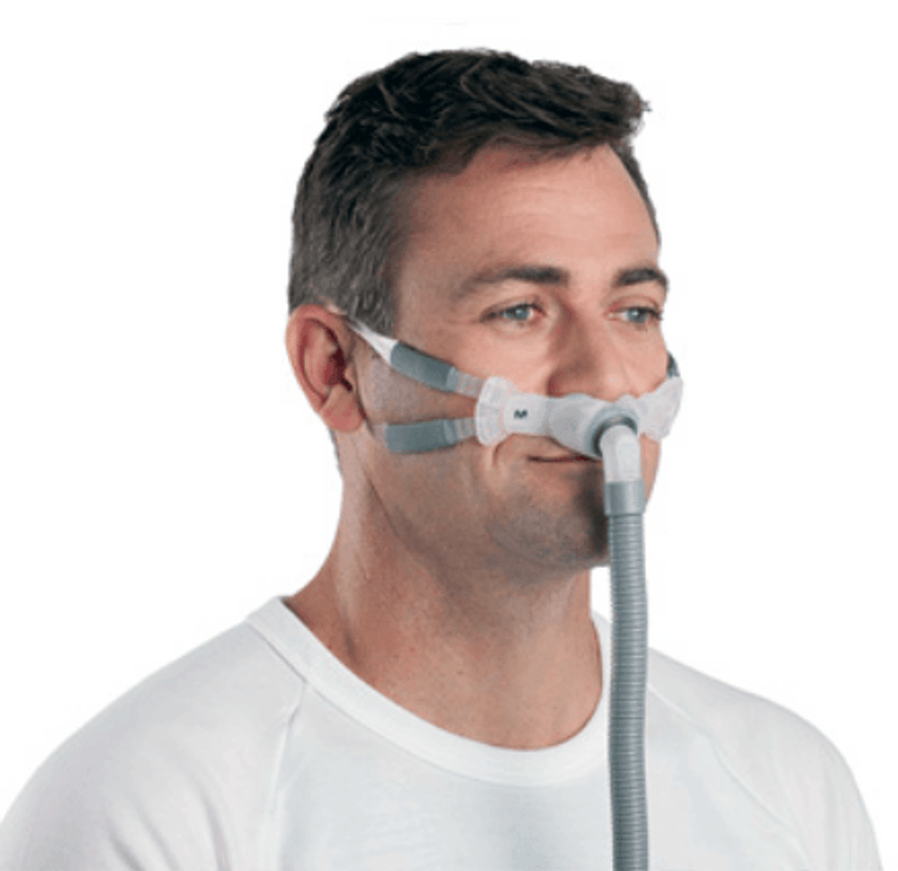 resmed swift fx bella gray nasal pillow system with headgear