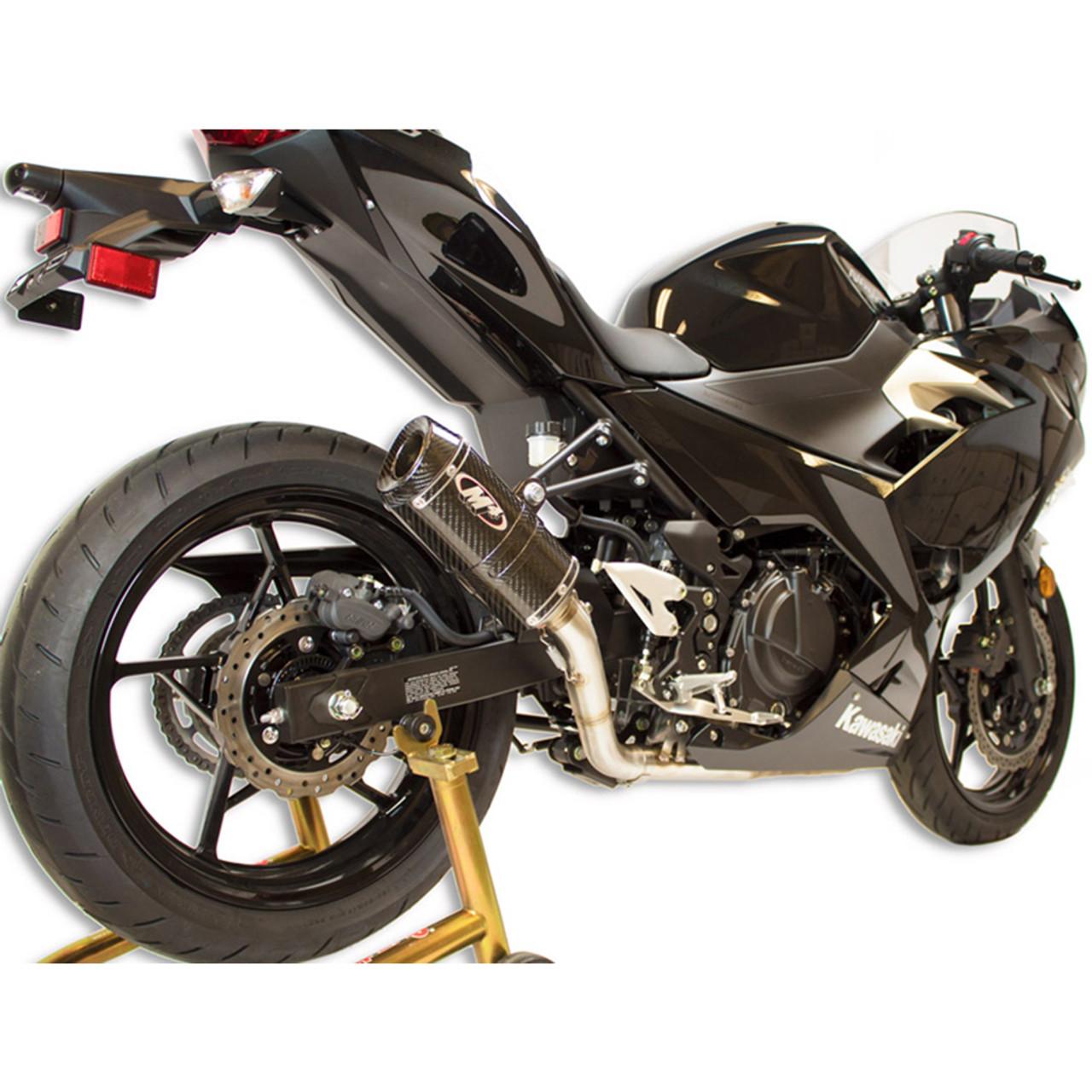 m4 kawasaki ninja 400 18 21 full exhaust x96 carbon canister