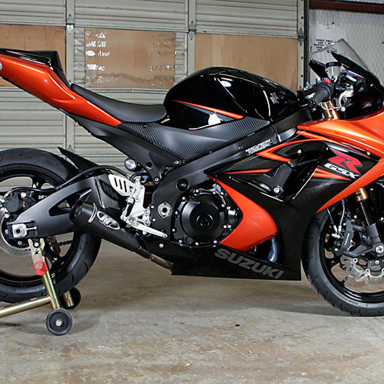 m4 suzuki gsx r1000 07 08 gp mount slip on exhaust