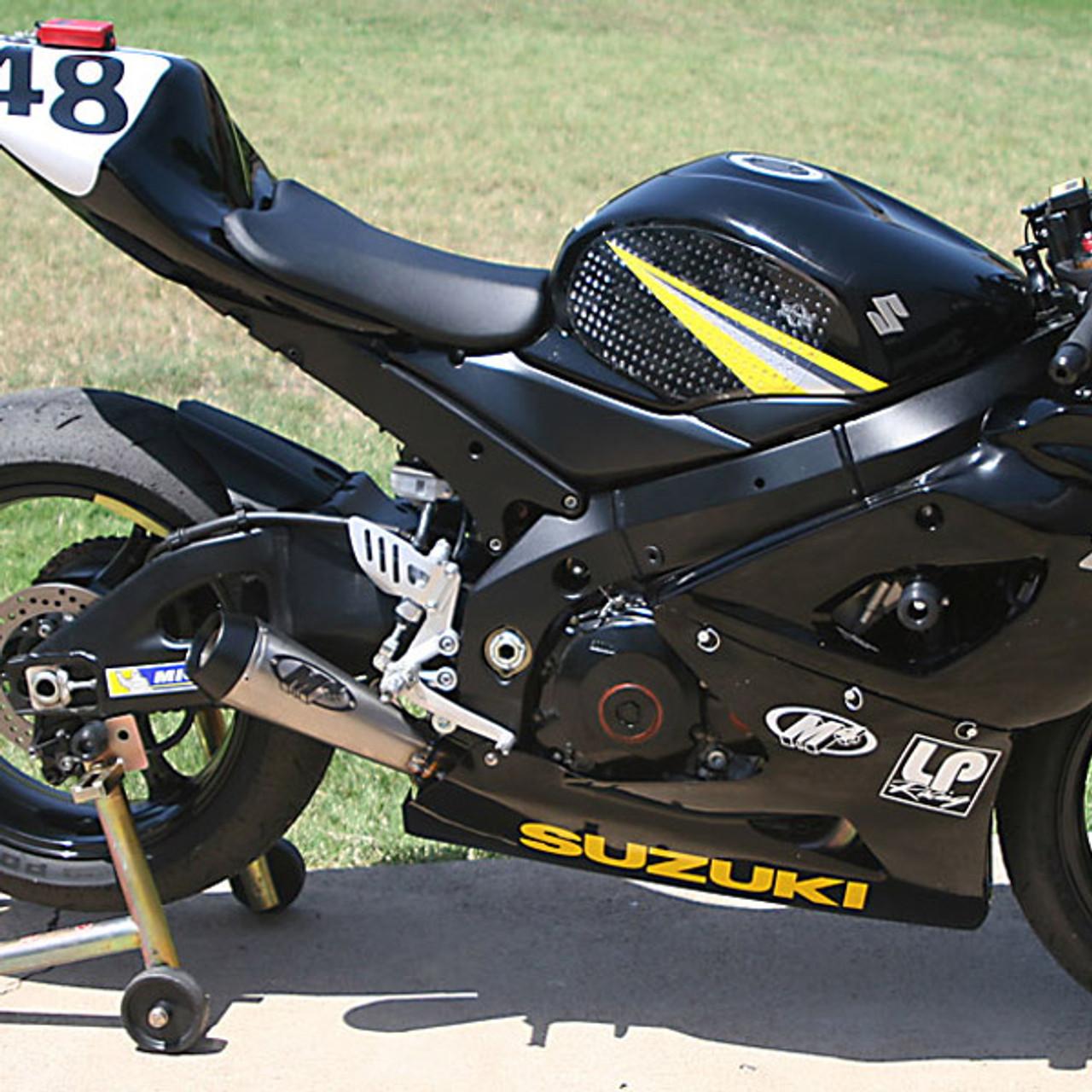m4 suzuki gsx r1000 05 06 gp mount slip on exhaust