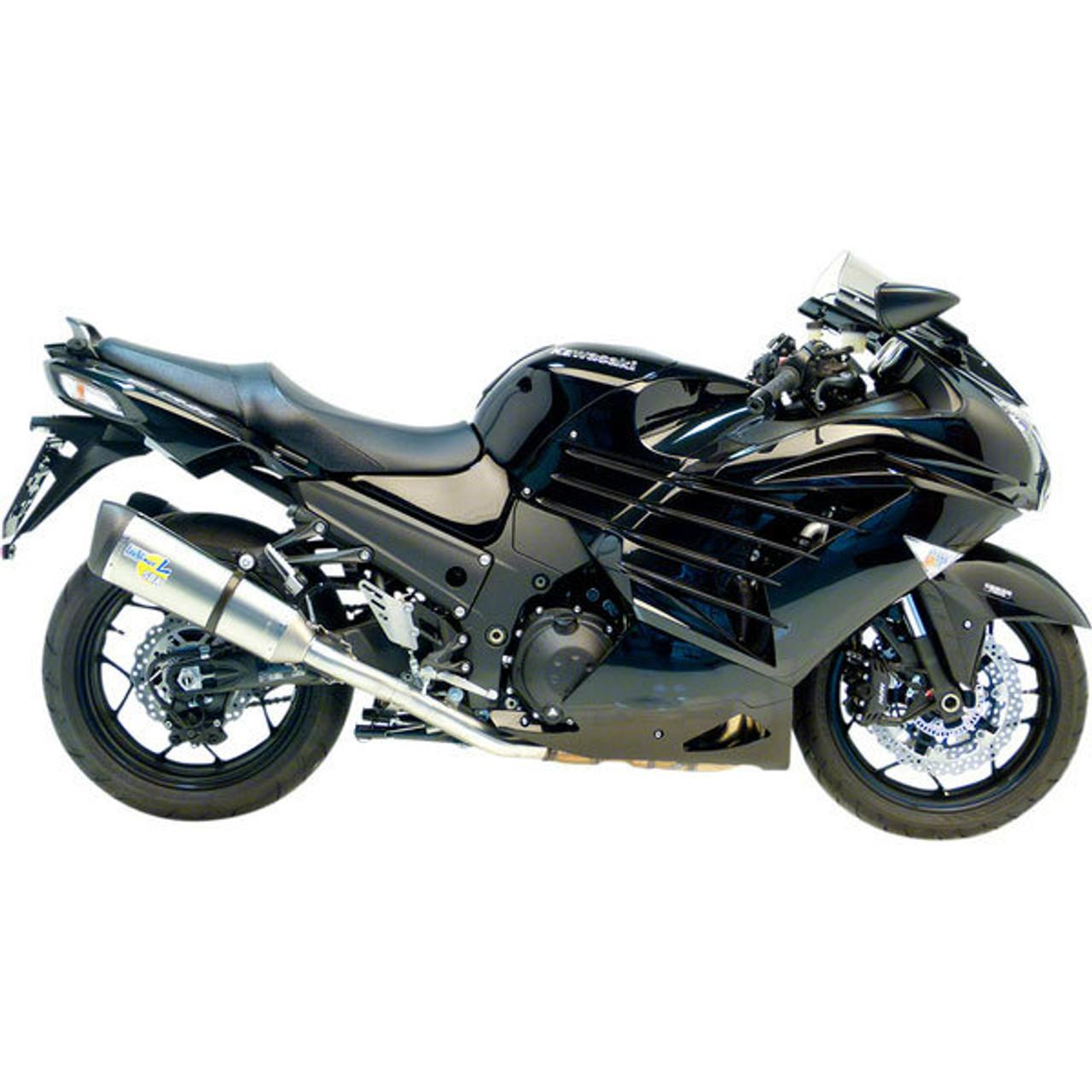 leo vince kawasaki zx 14r 12 19 titanium standard mount evo ii factory r slip on exhaust