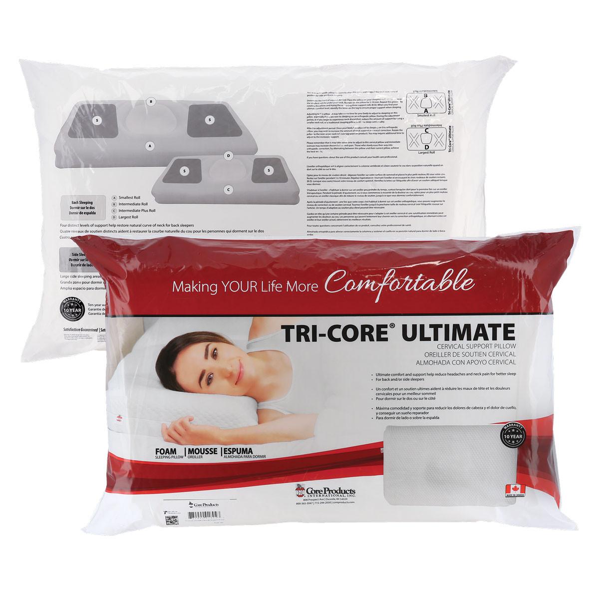 tri core ultimate pillow