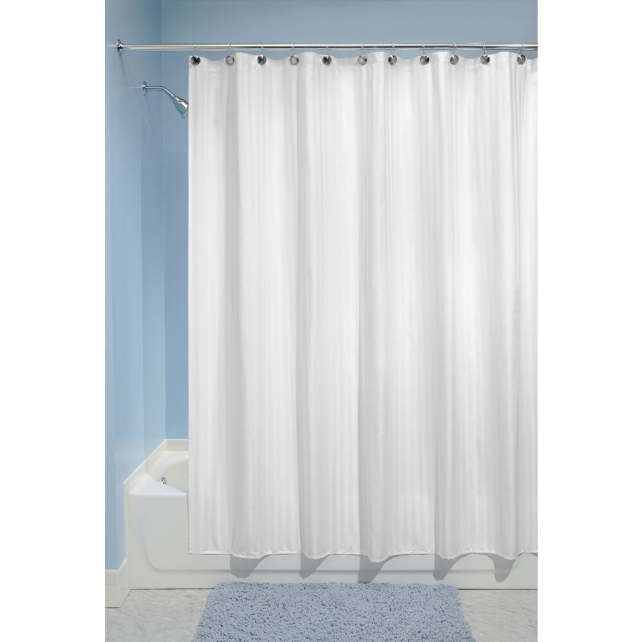 water repellent fabric shower curtain liner 72 x 84 white