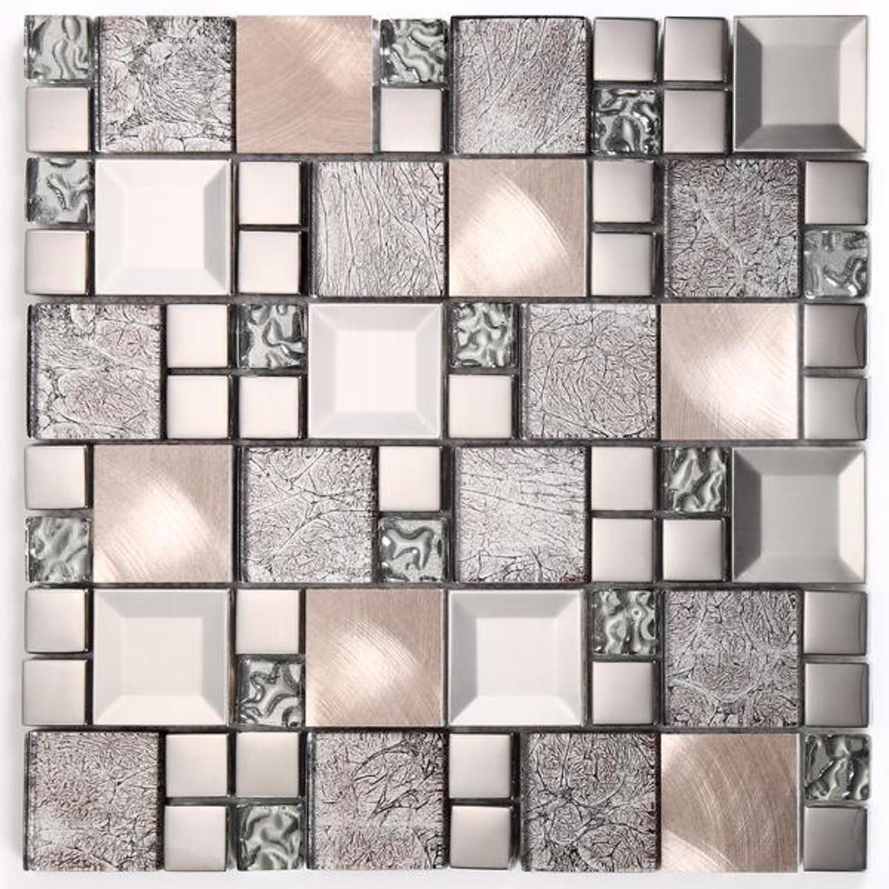 kaos silver glass mosaic