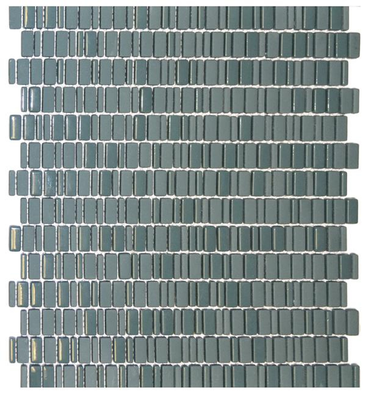 teal chiclets glass mosaic 12x12