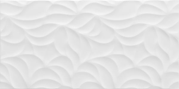 folhas leaf white ceramic tile 18x35