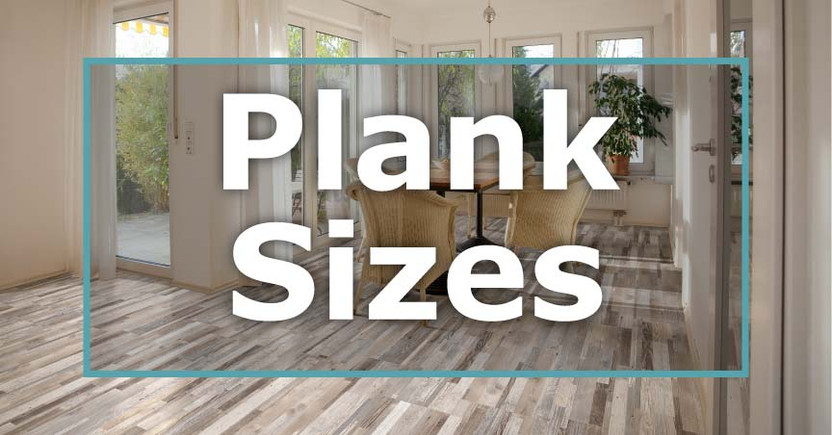of wood plank tile sizes