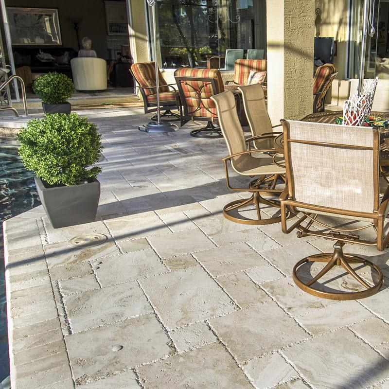 patio design ideas with tile stone