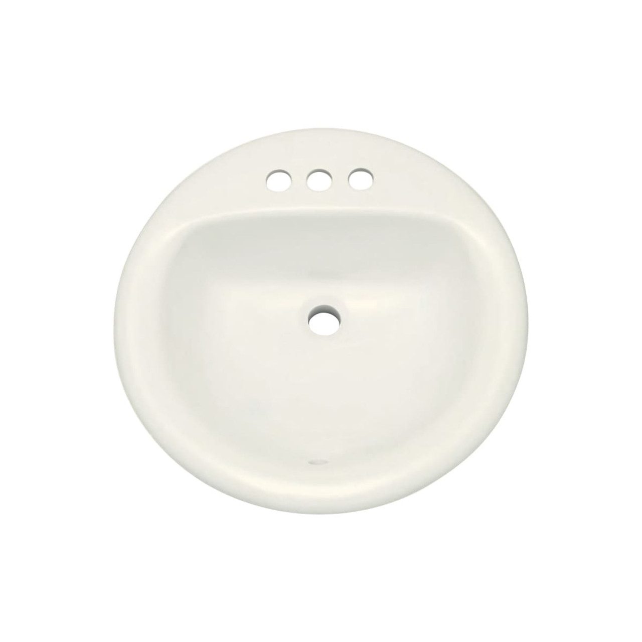 proflo 19 round drop in vitreous china sink with 3 holes and front overlow