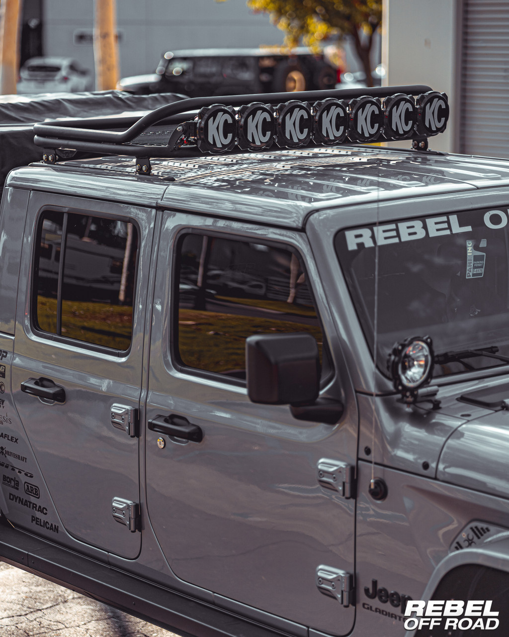 halo 2 0 lbr series roof rack with light mounts jeep gladiator jt