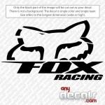 Motocross Car Decals Fox Racing Car Decal Anydecals Com