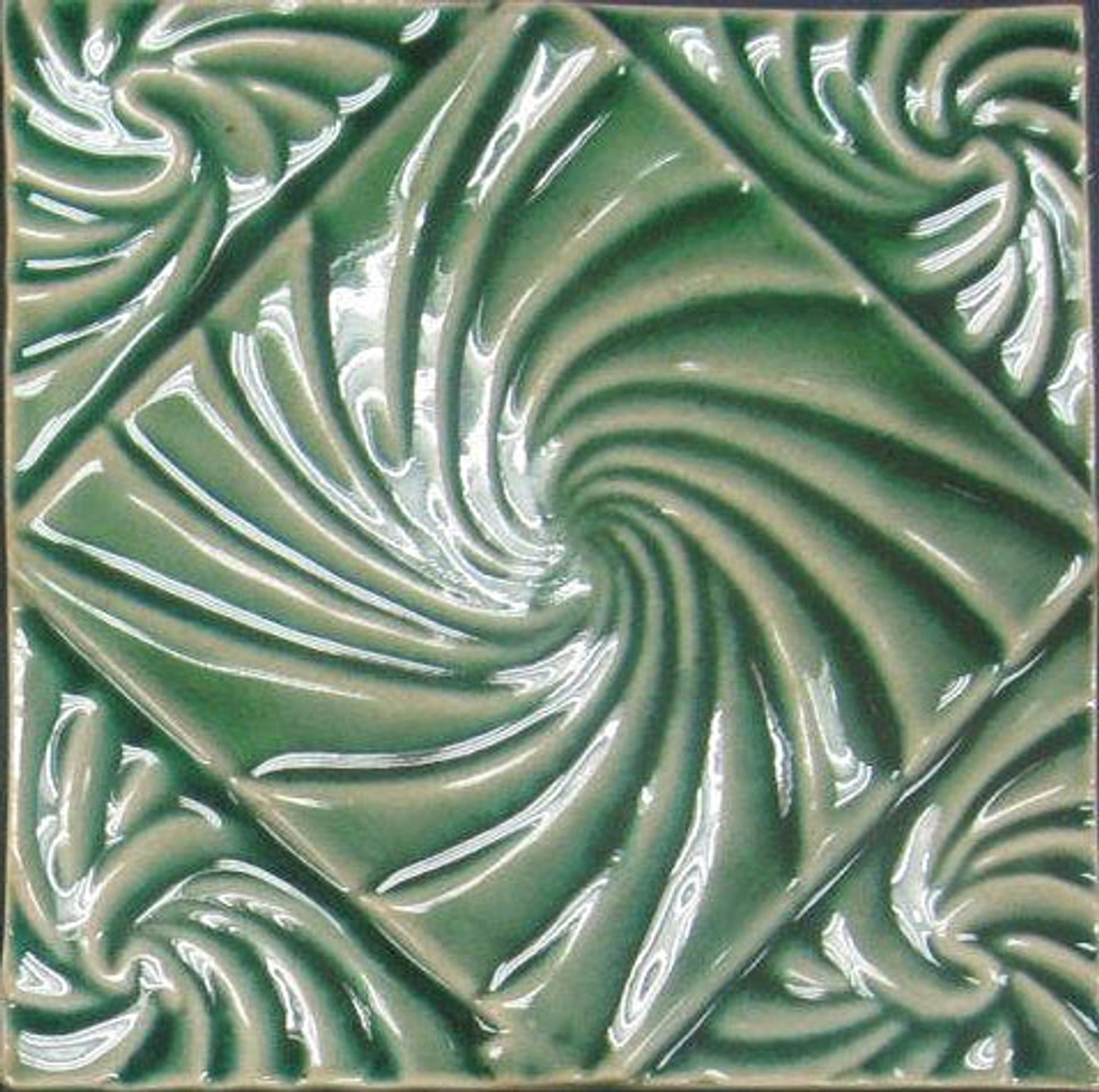 bristol studios nouveau g2351 lyon vert relief deco 6x6 hand crafted decorative tile