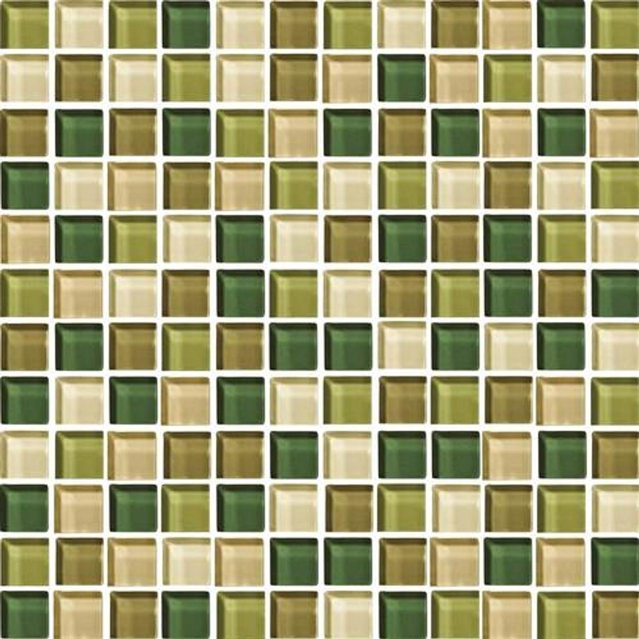 daltile color wave glass cw25 rain forest blend 1 x 1 dal tile glass tile glossy